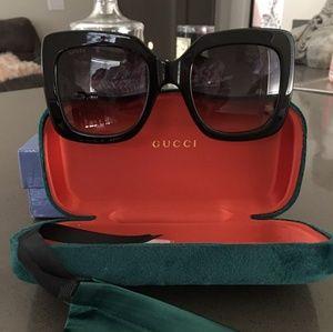 Large Black Gucci 0053S Square Sunglasses